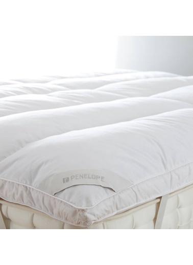 Penelope Piume Tube Kaz Tüyü Uyku Pedi Çift Kişilik 180x200+4+1 Beyaz